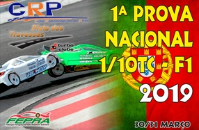 1ª Prova do Campeonato Nacional 1/10 TC Stock/modificado e F1